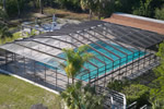 The screened, heated pool is great for swimming!
